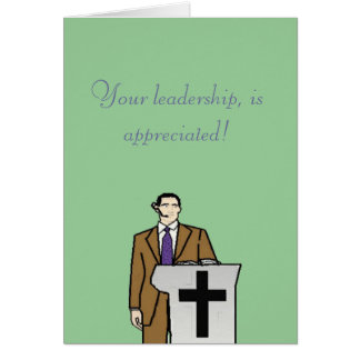 Your leadership greeting card