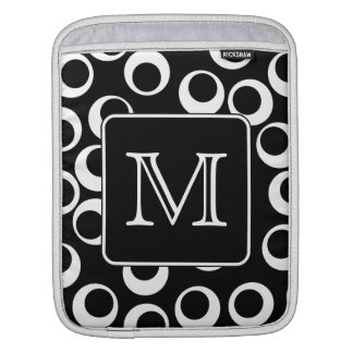 Your Letter. Black and White Monogram. Fun Pattern iPad Sleeve