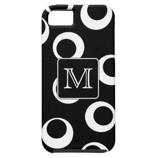 Your Letter. Black and White Monogram. Fun Pattern iPhone 5 Case