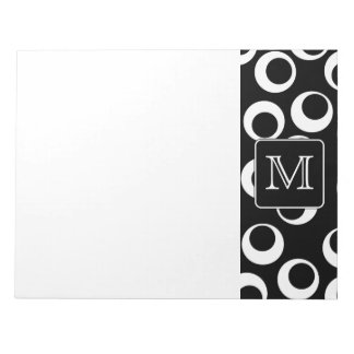 Your Letter. Black and White Monogram. Fun Pattern Notepad