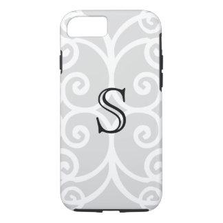 Your Letter. Black / White Swirl Monogram. Custom iPhone 8/7 Case