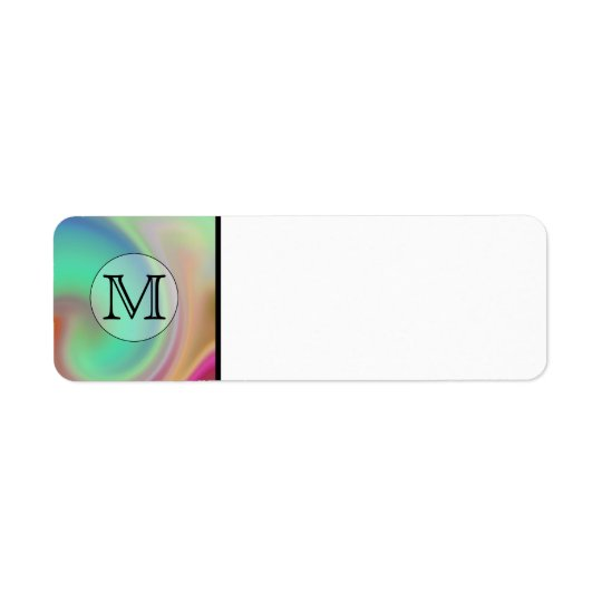 Your Letter, Colourful Swirls and Custom Monogram.