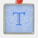 Your Letter. Custom Blue Swirl Monogram.