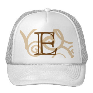 Your Letter. Custom Brown Monogram. Old Fashioned. Hats
