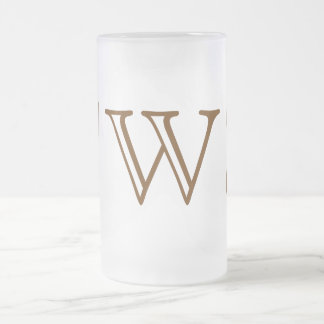 Your Letter. Custom Brown Monogram. Old Fashioned. Coffee Mug