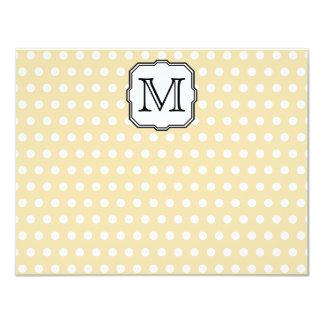 Your Letter. Custom Monogram. Beige Polka Dot. Custom Announcements