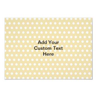 Your Letter. Custom Monogram. Beige Polka Dot. 3.5x5 Paper Invitation Card