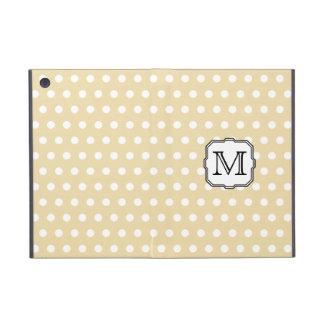 Your Letter. Custom Monogram. Beige Polka Dot. iPad Mini Case