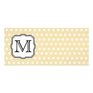 Your Letter Custom Monogram Beige Polka Dot Custom Rack Card