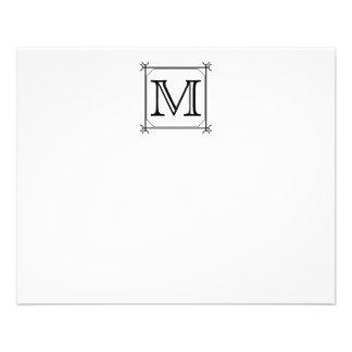 Your Letter. Custom Monogram. Black and White 11.5 Cm X 14 Cm Flyer