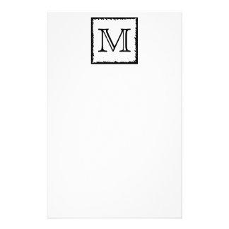 Your Letter. Custom Monogram. Black and White 14 Cm X 21.5 Cm Flyer