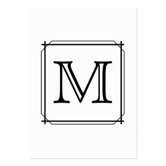 Your Letter Custom Monogram Black and White Business Card Template