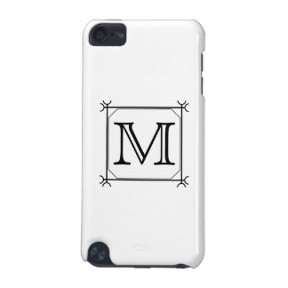 Your Letter. Custom Monogram. Black and White iPod Touch (5th Generation) Case