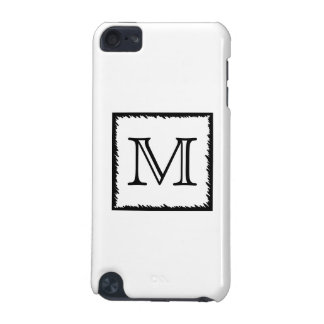 Your Letter. Custom Monogram. Black and White. iPod Touch 5G Case