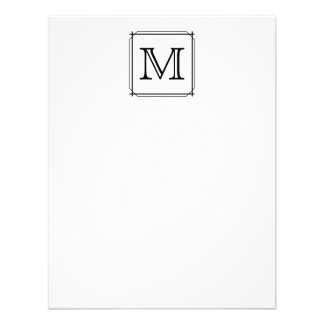 Your Letter. Custom Monogram. Black and White Announcements