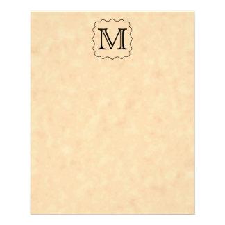 Your Letter. Custom Monogram. Black & Parchment Flyer