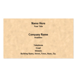 Your Letter. Custom Monogram. Black & Parchment Pack Of Standard Business Cards
