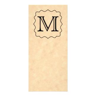 Your Letter. Custom Monogram. Black & Parchment Rack Card Design