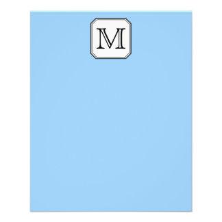 Your Letter Custom Monogram Blue Black White Flyer Design