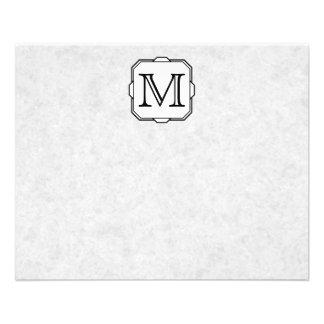 Your Letter. Custom Monogram. Gray, Black & White Custom Flyer
