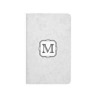 Your Letter. Custom Monogram. Gray, Black & White Journal