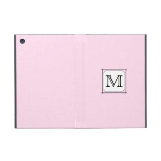 Your Letter. Custom Monogram. Pink Black White. Cover For iPad Mini