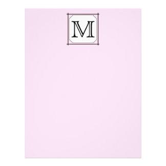 Your Letter. Custom Monogram. Pink Black White Personalized Flyer