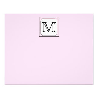 Your Letter. Custom Monogram. Pink Black White 11.5 Cm X 14 Cm Flyer