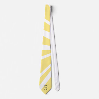 Your Letter. Custom Yellow Sun Ray Monogram. Tie