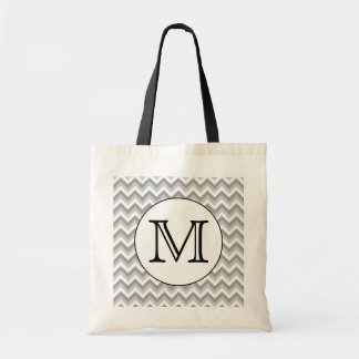 Your Letter. Gray Zigzag Pattern Monogram.
