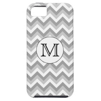 Your Letter. Gray Zigzag Pattern Monogram. iPhone 5 Case