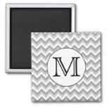 Your Letter. Grey Zigzag Pattern Monogram.
