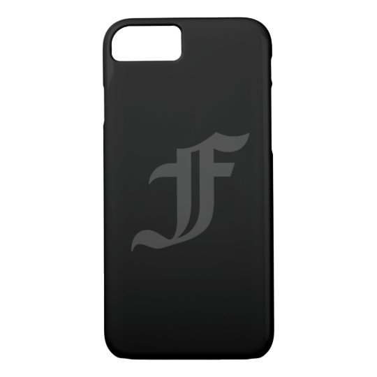 Your Letter Masculine Grey and Black Design iPhone 7 Case