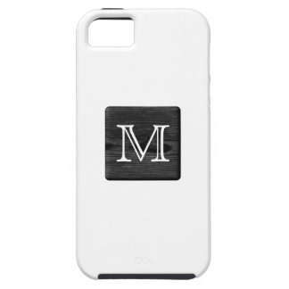 Your Letter Monogram. Picture of Black Wood. iPhone 5 Case