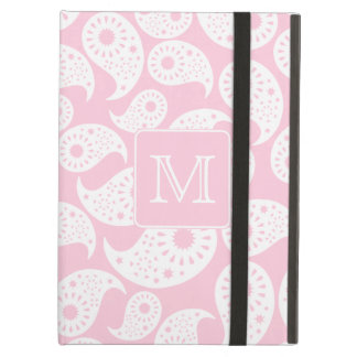 Your Letter Monogram. Pink Paisley Pattern. Cover For iPad Air