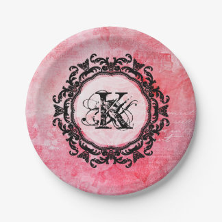 Your Letter,Old,Vintage,Romantic,Rose,Pattern Paper Plate