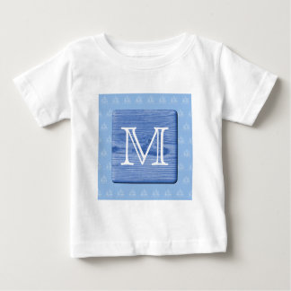 Your Letter. Picture of Wood in Blue. Nautical. T-shirts