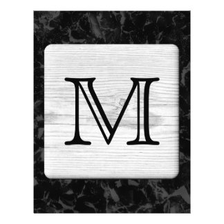 Your Letter. Picture of Wood on Black Pattern. Flyer