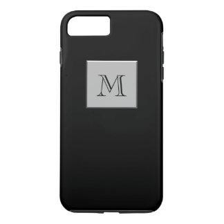Your Letter Your Monogram Silver Black iPhone 7 Plus Case