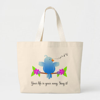 Your Life is Your Song - Sing It! Large Tote Bag