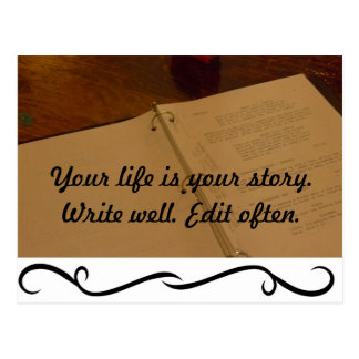 Your life is your story postcard