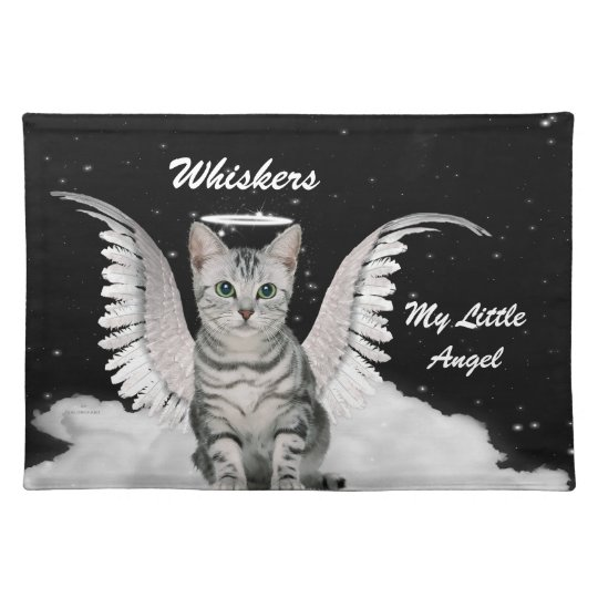 Your Little Angel Tabby Cat with Name Placemat