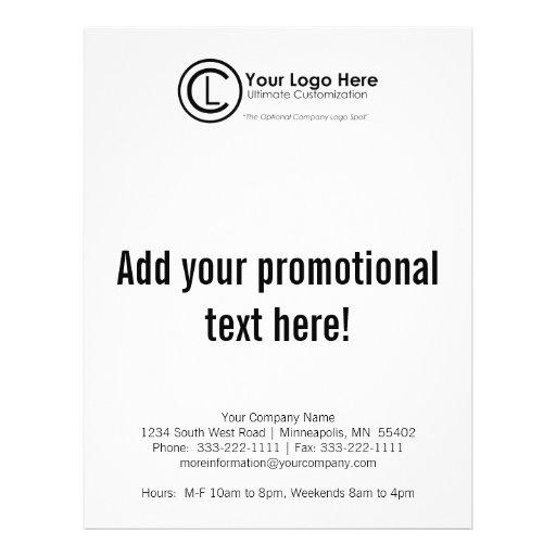 Your Logo Here Simple & Custom Marketing Flyer