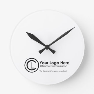 Your Logo Here Simple & Custom Promo Wall Clock