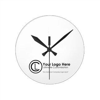 Your Logo Here Simple & Custom Promo Wall Clock