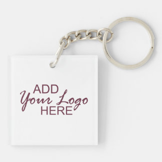 your logo / pic 1 custom acrylic keychain