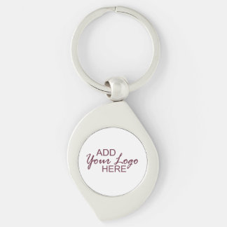 your logo / pic custom key chain Silver-Colored swirl key ring