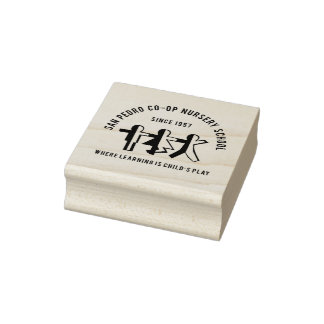 Your Logo School or Business Rubber Stamp