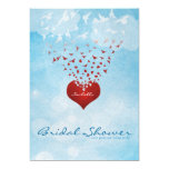 Your Love Gives Me Wings Bridal Shower 13 Cm X 18 Cm Invitation Card