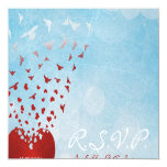 Your Love Gives Me Wings Wedding RSVP 13 Cm X 13 Cm Square Invitation Card